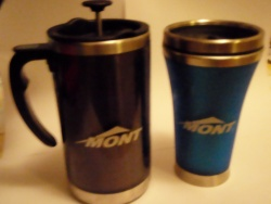 Mont coffee plunger and cup
