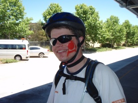 Mr GPS with his warpaint.