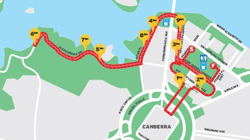 Map of running course