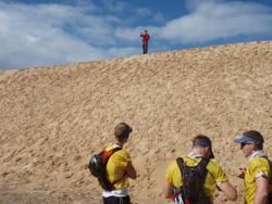 A wall of sand at the start