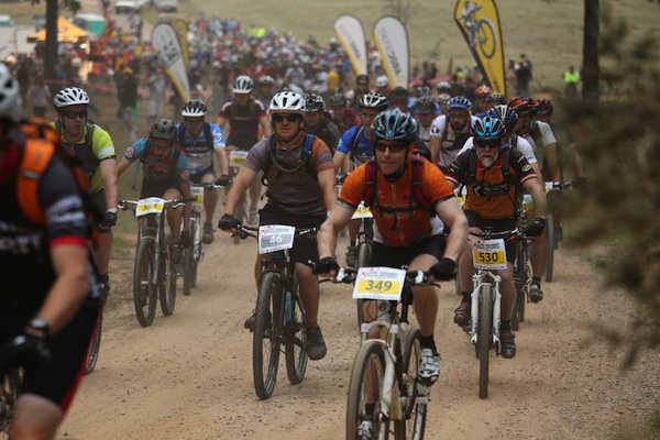 Mountain bike race start