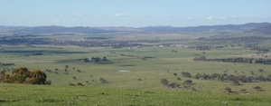 View of Bungendore from Kowen Forest